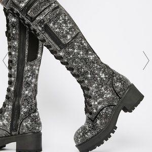 Club Exxx Bling Knee High boots